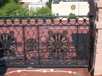 Roof--Ironwork on the west side - June 29, 2011