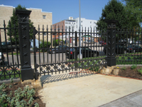 Fence--Main gate, west side - August 20, 2011
